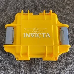 Invicta 1-Slot Dive Case for Watch Yellow New